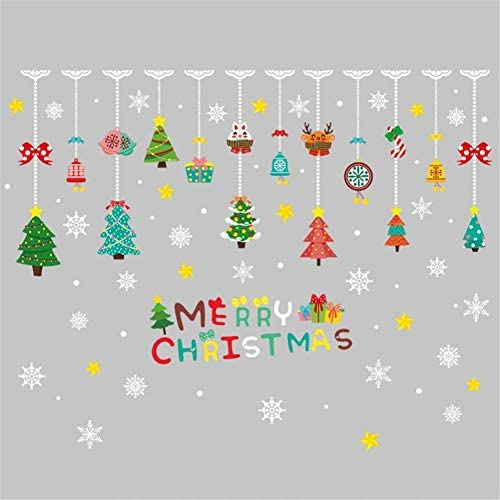 Christmas Wall Stickers Christmas Kids Rooms Decoration Window Stickers Removable Xmas Wall Sticker Pvc