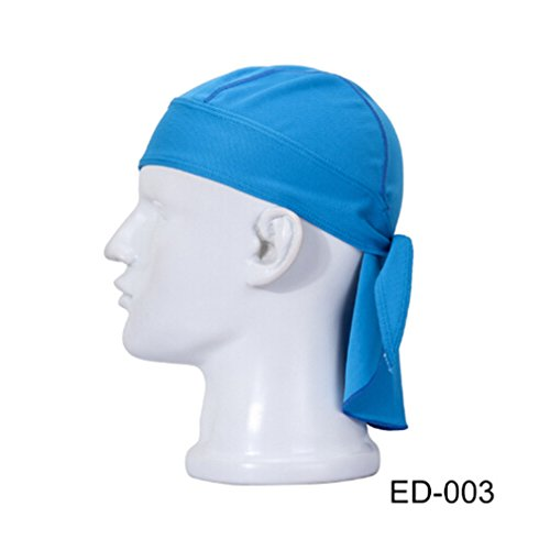 Dolland Sport Outdoor Quick Dry Bandana   Adjustable Breathable Head Wrap Headwear Running Beanie   Sun Uv Protection Cap Headgear For Men Women Helmet Liner Color Blue