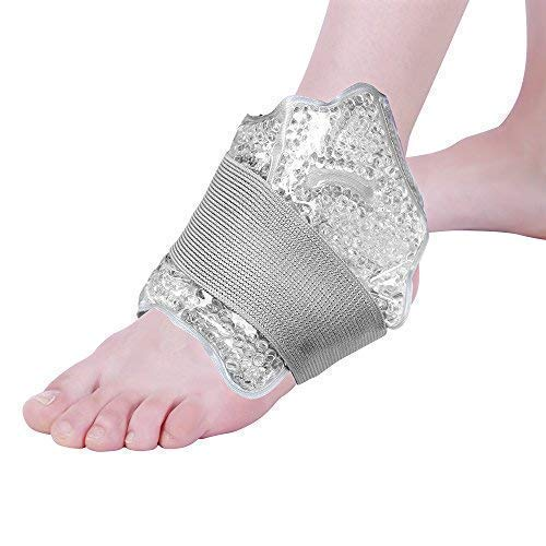 - NEWGO®Foot & Ankle Ice Pack Wrap Reusable Ankle Brace with Gel Bead, Soft Ice Pack for Injuries, Pain Relief, Swollen Foot (10