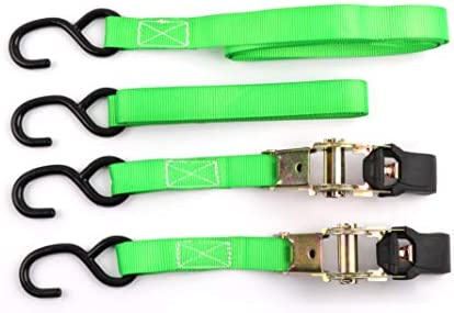 Koshihara LL731 ラチェットラッシングベルト 2.5Mx25mm 緑 2個入