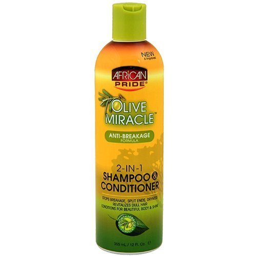 African Pride Olive Miracle 2-in-1 Shampoo 355 ml by African Pride by African Pride