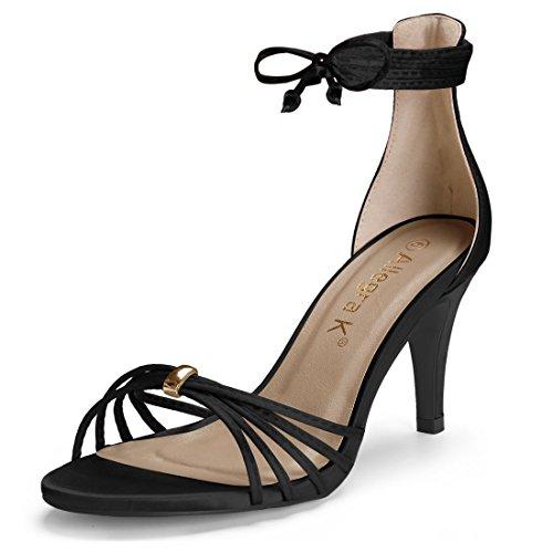 Sandales Stiletto Allegra pour lacets K à femmes noir 5wIqIAapnZ