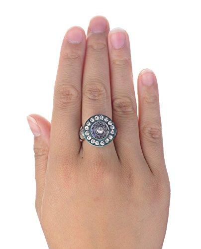 Women's Southwestern Style Fashion Stretch Ring - Shotgun Shell Primer, Mint (Shotgun Shell Jewelry)