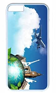 Aircraft and Eiffel Thanksgiving Halloween Masterpiece Limited Design PC White Case for iPhone 6 plus 5.5 by Cases & Mousepads