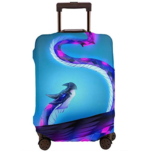 Cartoon Flying Serpent Dragon Travel Luggage Cover Suitcase Protector Washable Baggage Luggage Covers Zipper Fits 18-20…