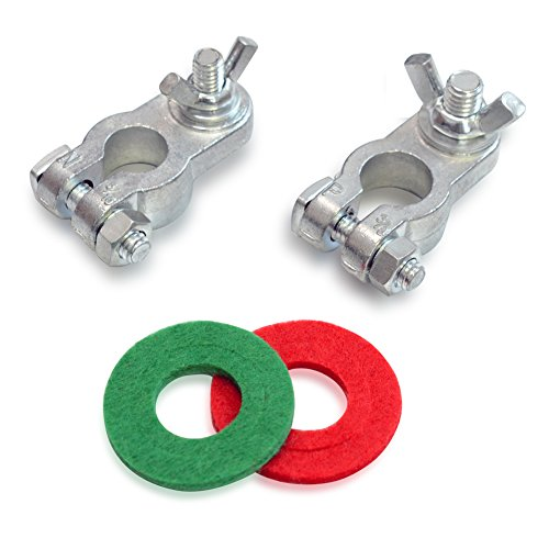 - Handster Marine Battery Terminal Wing Nuts Style Zinc Alloy Terminal Kit with Anti-corrosion Washers