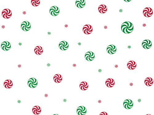 Pack Of 1, 30'' X 100' 1.0 Mil Peppermint Red & Green Christmas Print Cello Rolls Made In USA by Generic