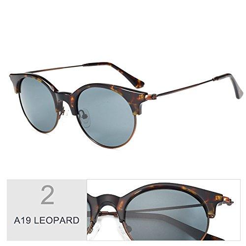 Reborde De Sol Gafas Clásico Traje LEOPARD R32 Sin Sol Bastidor Solo De A19 Gafas Polarizadas TIANLIANG04 Puente Del Azul Gafas Semi wvIABB