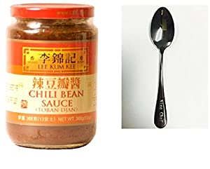 Lee Kum Kee Chili Bean Sauce (Toban Djan) (13 oz.) + Only One Free NineChef Spoon from Lee Kum Kee