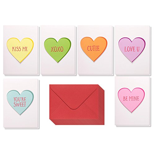 20 Assorted Greeting Cards (12 Pack Valentine Cards - Handmade Love Cards with 6 Assorted Heart Designs - Includes Envelopes - Romantic Greeting Cards for Valentine's Day, Anniversaries, 5 x 7 Inches)