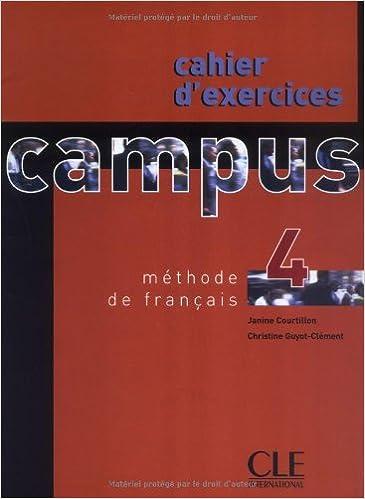 Ebooks gratis para descargar en pcCampus 4 Workbook (Methode de Francais) (French Edition) en español PDF iBook