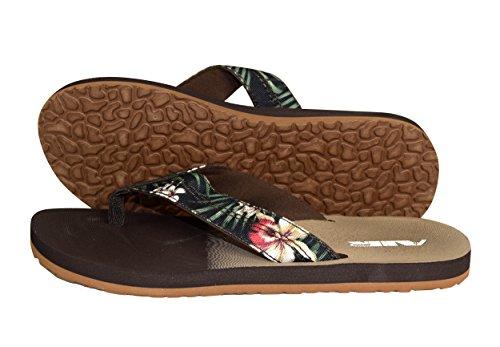 b08c156055f Peach Couture Nautical Summer Men s Beach Summer Flip-Flops Sandals  Slippers Hawaiian Green 10