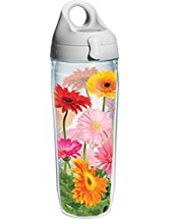 Tervis Gerba Daisy Water Bottle With Lid 24 Oz Clear