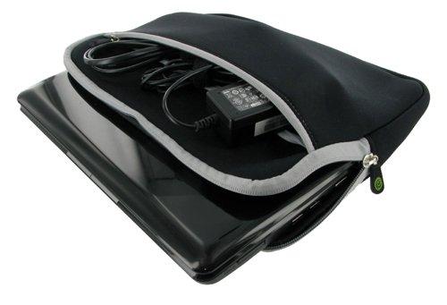 Packard Bell 11.6-Inch Dot M Netbook Neoprene Sleeve SlipCase (Invisible Zipper Dual-Pocket - Black)