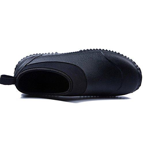 Ankle Ankle Ankle da JOINFREE Donna Stivali Stivali Stivali Nero Car Low Footwear Shoes da Outdoor Wash Pioggia Uomo per Short tSvSBq