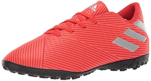 350223454 adidas Men's Nemeziz 19.4 Turf Soccer Shoe, Active Silver Metallic/Solar  Red, 10 M US