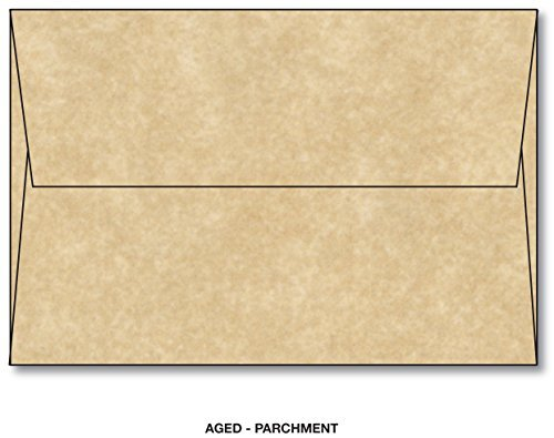 Mohawk Skytone Vellum Parchment Envelopes Aged - Size A6 (4 3/4 X 6 1/2) 60 Lb Text - 25 Envelopes Per Pack (Square Vellum Envelopes)