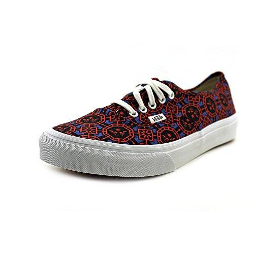 Vans Womens Authentic Slim (Geometric) DazzlngBl/Wht Skateboarding Shoes