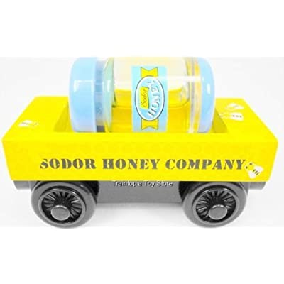 Thomas the Tank Engine Wooden Sodor Honey Barrel Company Train Car with removable Real Like Honey Barrel 2 Piece Set Loose: Toys & Games