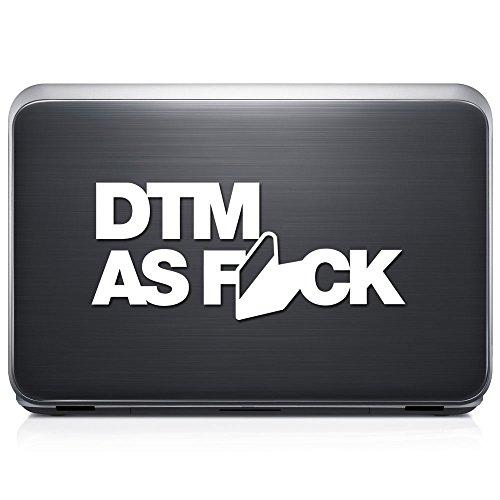 Dtm As Fcuk Euro Deutsche German PERMANENT Vinyl Decal Sticker For Laptop Tablet Helmet Windows Wall Decor Car Truck Motorcycle - Size (07 Inch / 18 Cm Wide) - Color (Gloss White)