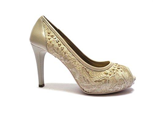 Arena Para De Giardini Mujer Piel Beige 37 Nero Vestir Zapatos 6a8Xwq44x