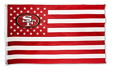 WHGJ San Francisco 49ers SF NFL 3x5 FT Flag Super Bowl Stars and Stripes Indoor/Outdoor Sports Banner