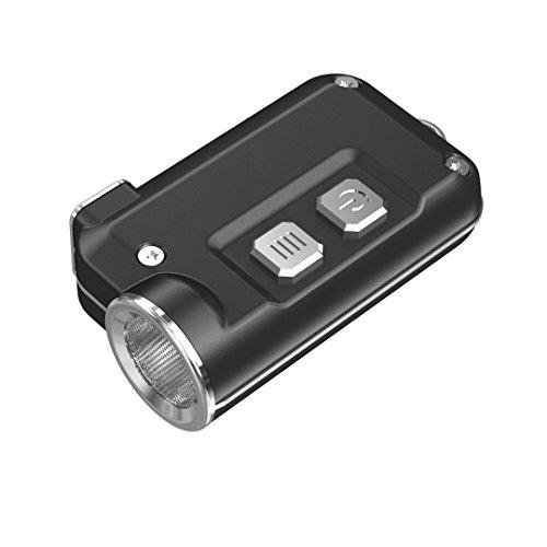 Nitecore TINI 380 Lm Super Small USB Rechargeable LED Keychain Flashlight Grey (Aero Ss)