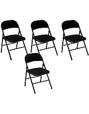 Cosco Fabric 4-Pack Folding Chair, Black