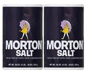 Morton Salt Regular Salt, 26 Oz, Pack of 2