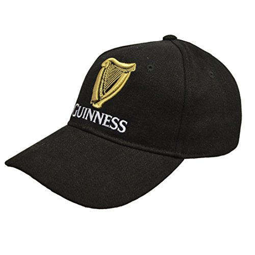 Guinness Baseball Cap With Official Logo And Red Signature,Black,One Size