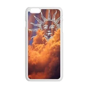 Clouds Sky And Cartoon Sun Creative Cell Phone Case For Iphone 6 Plaus wangjiang maoyi