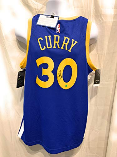 - Stephen Curry Steph Golden State Warriors Signed Autograph Nike Swingman Jersey Steiner Sports Certified