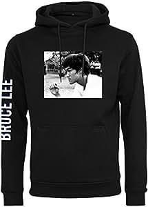 MERCHCODE Merch Código Hombre Bruce Lee be Water My Friend Sudadera con Capucha, Hombre, MC265, Negro, Medium