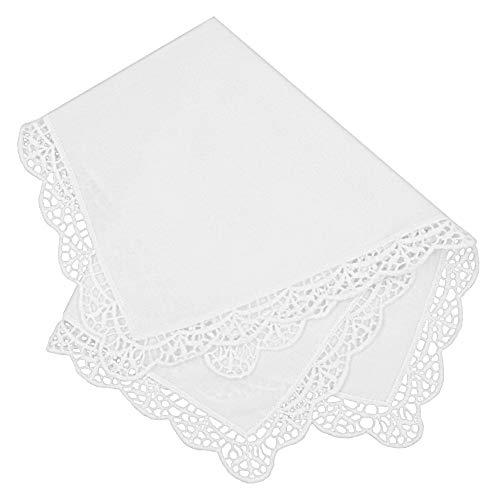 - Milesky Bridal Wedding Crochet Lace Handkerchief premium 60S Cotton CH05