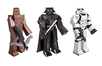 Star wars blueprint paper craft kit chewbacca darth vader and star wars blueprint paper craft kit chewbacca darth vader and stormtrooper malvernweather Gallery