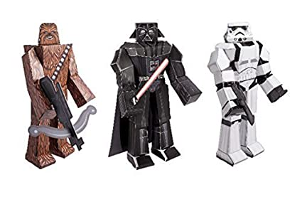 Amazon star wars blueprint paper craft kit chewbacca darth star wars blueprint paper craft kit chewbacca darth vader and stormtrooper malvernweather Images