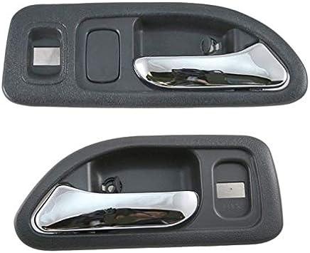 Chrome//Black Front RH Passenger Interior Inside Door Handles for 94-97 Accord