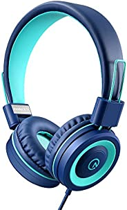 Kids Headphones - noot products K11 Foldable Stereo Tangle-Free 3.5mm Jack Wired Cord On-Ear Headset for Child