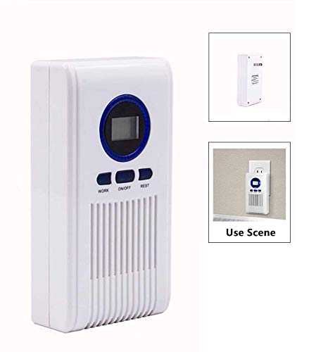 LXT PANDA Household Ozone Generator, Plug in Ozone Air Purifier, Ozone Generator Purifier with LCD Display and Timing Function for Home Office Hotel Pet Area and Travel.