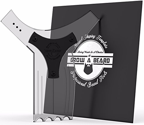 Beard Shaping Tool Template for Men - Premium & Friendly Gift Package - Best Facial Hair Shaper Instrument Ever Created - Great for All Kind Of Beards & Shape Style - Tools Grooming Package