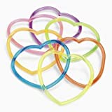 6 Dozen Vinyl Heart-Shaped Jelly Bracelets