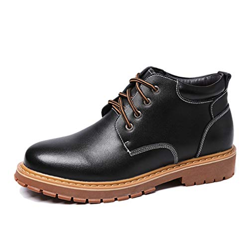 - Starttwin Men's Oxfords Shoes Autumn Winter Snow High-top Breathable Formal Shoes