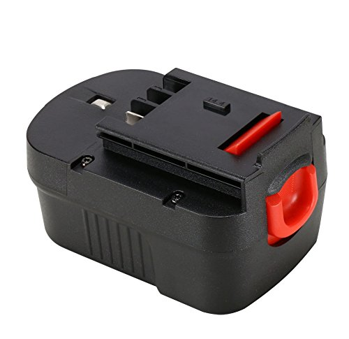 POWERAXIS 14.4V HPB14 Battery for Black & Decker 14.4V FireStorm 499936-34 499936-35 HPB14 FSB14 A14 BD1444L HPD14K-2 CP14KB HP146F2 CDC140AK HP148F2R Black and Decker 14.4 Volt Battery (Black)