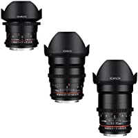 Rokinon CINE DS Wide Angle Cine Lens Bundle - 35mm + 24mm + 14mm for Nikon