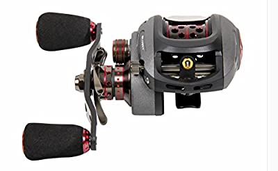 KMBEST Baitcasting Reels,Low Profile Baitcaster Reels Dual-brake System for Ultra light Inshore Saltwater or Freshwater Kayak Trout Fishing Gear, Bass Fishing Reels - with Baitcast Fishing Reel