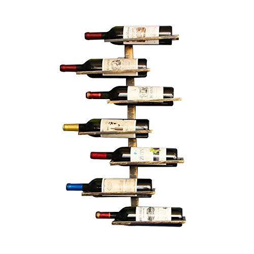 Vintage Retro Wall Mount Wine Rack for Restaurants, Bars, Daily Home furnishings etc (Hold 7 bottles) by Isasar