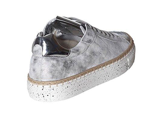 Panarea vit Argento Primavera Estate 9125 Donna Lame Blanche Sneaker inox Crack Scarpe 2018 Voile qxzPB0wIx