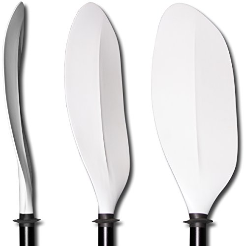 Hardcore Water Sports 205 cm. Kayak Paddle Curved Blade 2-pc with Aluminum Shaft White