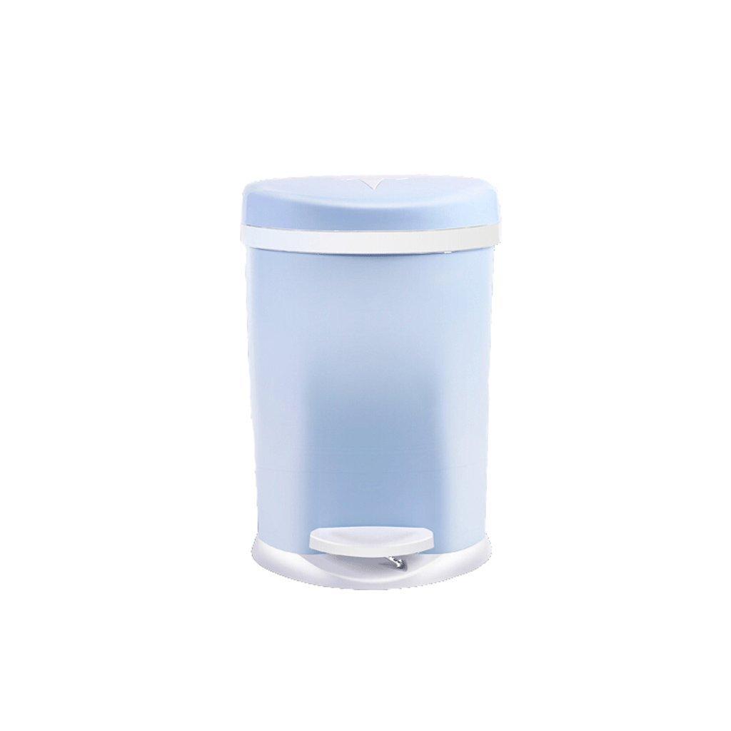 Papelera LCSHAN Pedal Cocina Sala Sala Sala de Estar Cuarto de baño Inodoro con Tapa Creativa Gran Basura doméstica (Color : Azul) 202a48