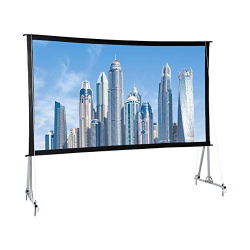 AmazonBasics Outdoor Projector Screen with Stand – 16:9, 120″